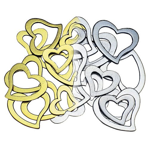 Stylized Open Hearts Wedding Reception Decoration Accessory