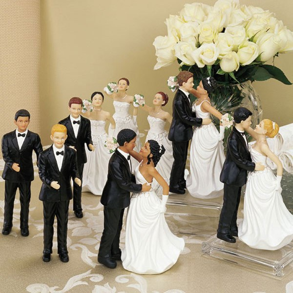 Interchangeable Brides Grooms Cake Topper