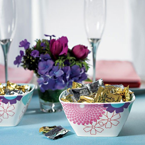 Foil Wrapped Mint Swirl Wedding favor Candy