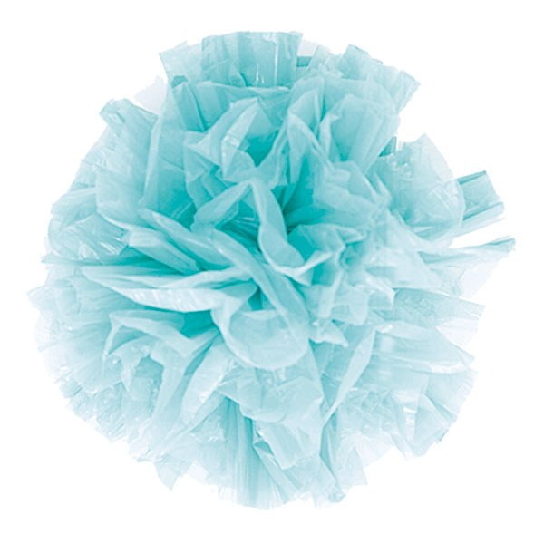 Colored Plastic Wedding Pom Poms