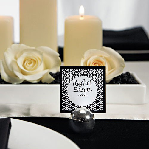 Classic Round Silver Place Card Holders The Knot Shop – Round Wedding Card Box