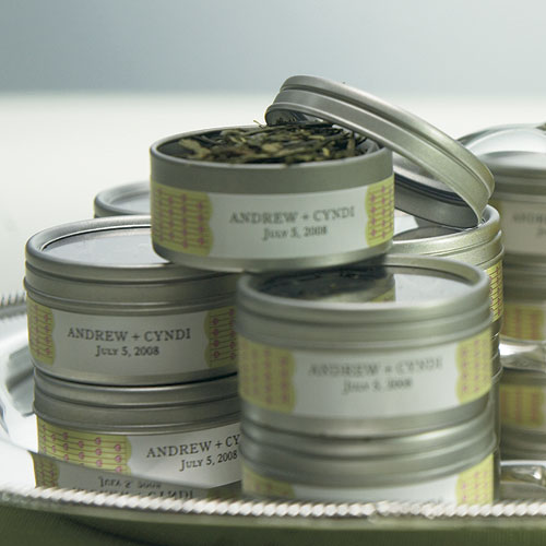Round Tin With Lid Favour Container