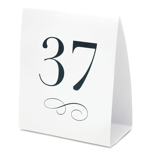 Table number tent style card the knot shop for Table numbers