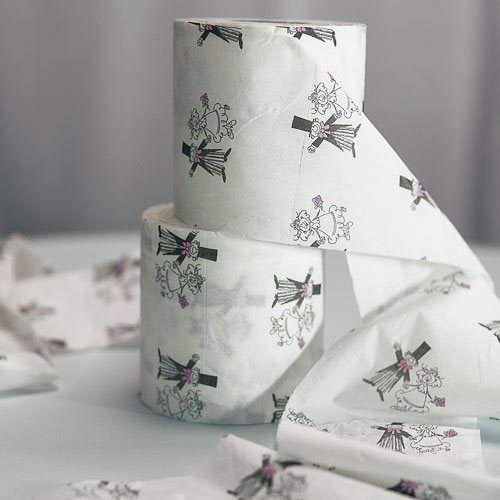 Novelty Wedding Toilet Paper Roll