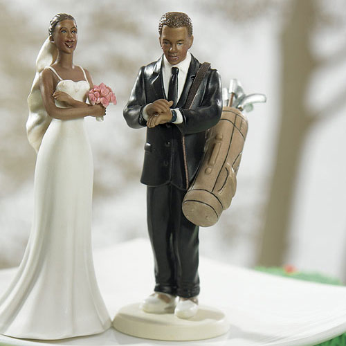 Golf Fanatic Groom Mix and Match Wedding Cake Topper