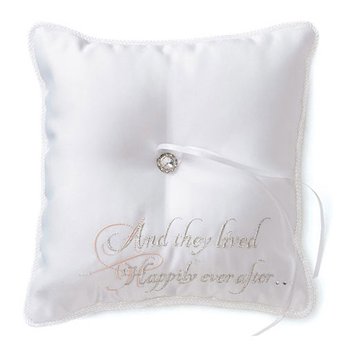 Fairy Tale Dreams Square Wedding Ceremony Ring Pillow