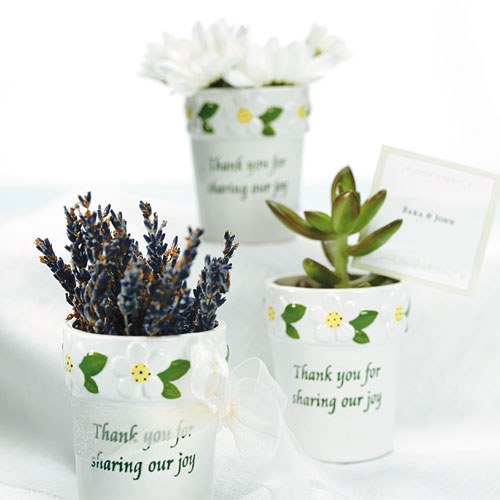 wedding flower pot favors