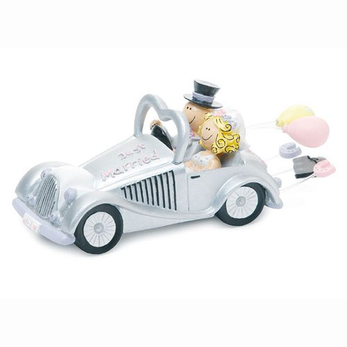 Wedding Get away Car Figurine Cake Topper