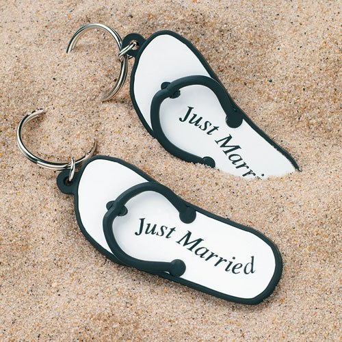 flip flop key chain wedding favor