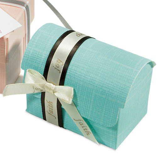 Aqua Wedding Favor Boxes : Seta celeste aqua blue favor boxes weddingstar