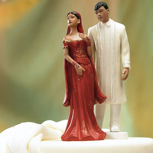 Traditional Indian Bride And Groom Mix Match Wedding Cake Toppers