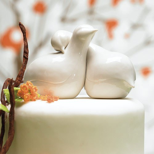 Contemporary Love Birds Cake Topper Weddingstar