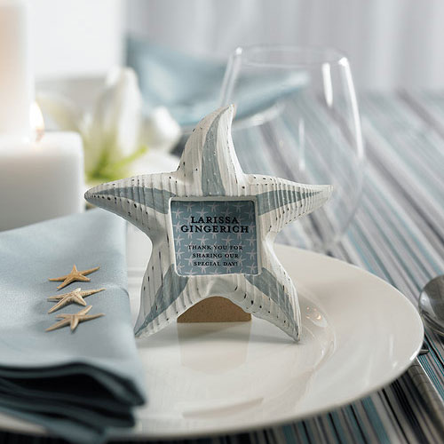 Small Wooden Starfish Wedding Favor Photo Frames