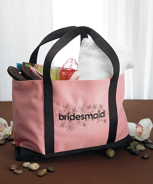 "Wedding Gifts From Bridesmaids: ""Bridesmaid"" Two Tone Tote"