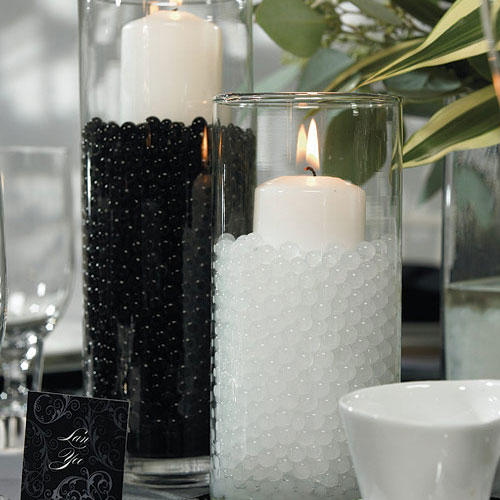 Wedding Reception Water Pearls Decoration