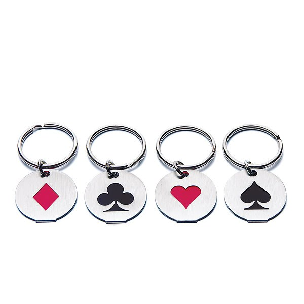 Card Suits Wedding Favor Key Chains