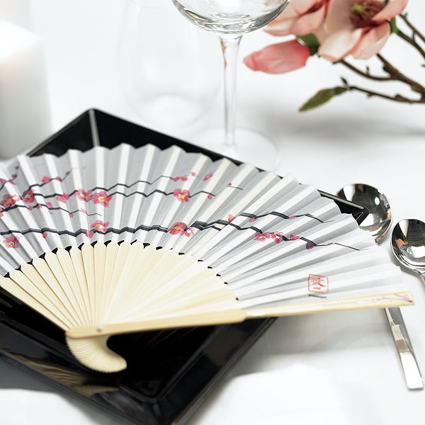 Cherry Blossom Hand Fan Wedding Favors