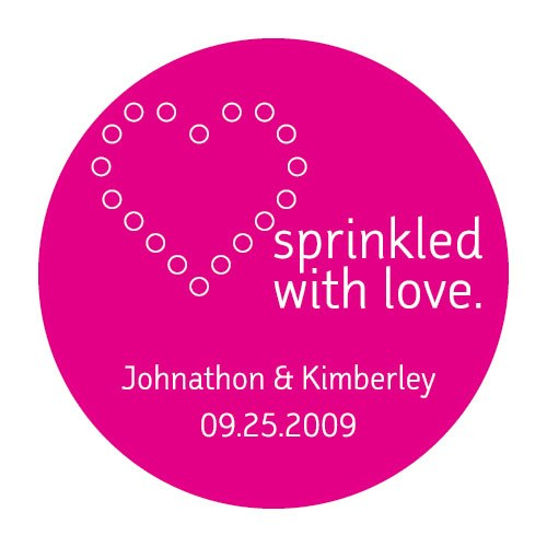 Sprinkled with Love Wedding Favor Stickers