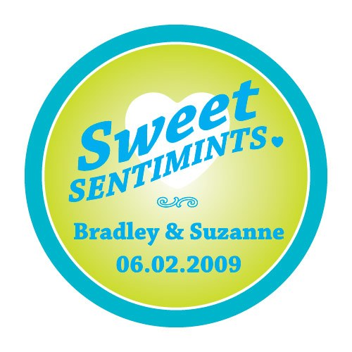 Sweet Sentimints Wedding Favor Stickers