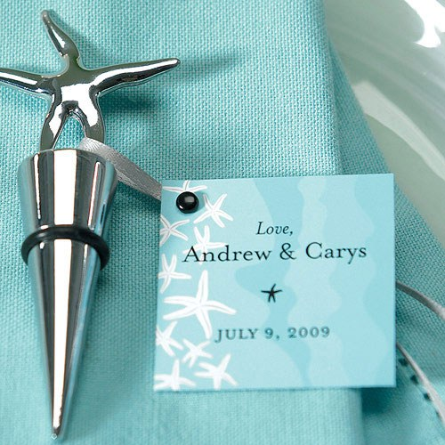 Seashore Wedding Reception Favor and Place Cards