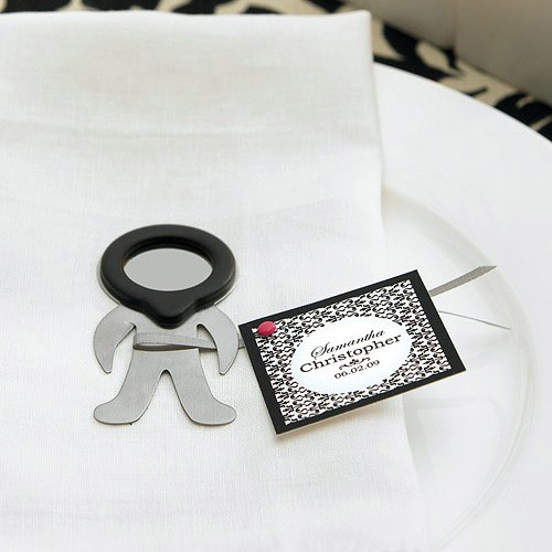Ornamental Black Pattern Wedding Favor and Place Cards