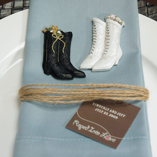 Western Roped into Love Wedding Favor and Place Cards