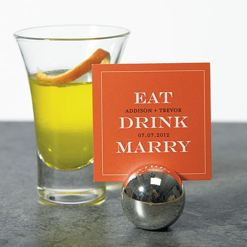 Eat Drink Marry Wedding Favor and Place Cards
