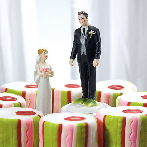 Almost Perfect . . . Frog Prince Groom Wedding Cake Topper