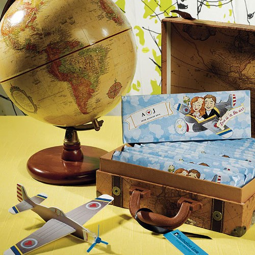 Love is in the Air Wedding Favor Airplane Gliders