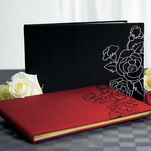 Silhouettes In Bloom Traditional Wedding Reception Guest Book