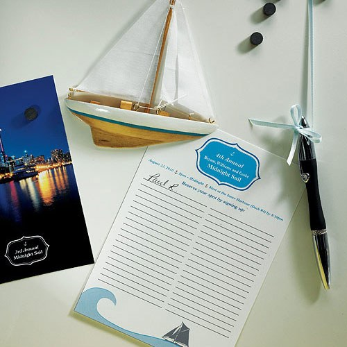 Smooth Sailing Sailboat Wedding Favor Magnet
