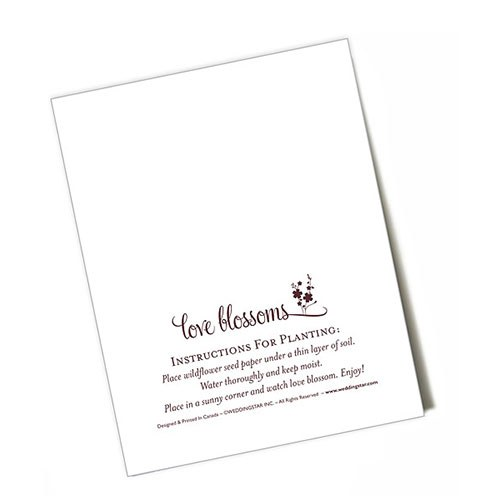 Seed Paper Love Blossoms Personalized Favor Card The Knot Shop