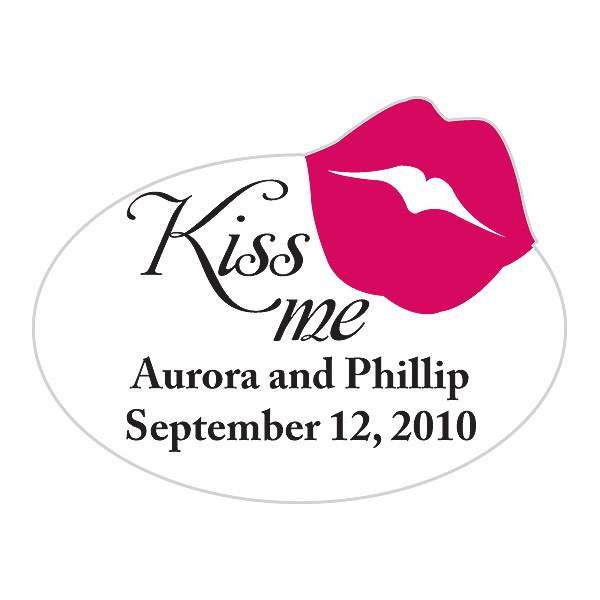 Kiss Me Wedding Favor Stickers
