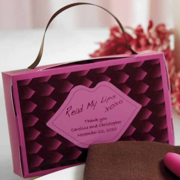 Read My Lips Wedding Favor Sticker