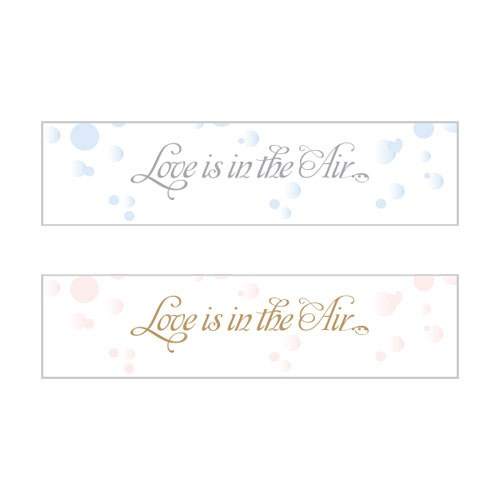 Love is in the Air Bubble Wedding favor Stickers