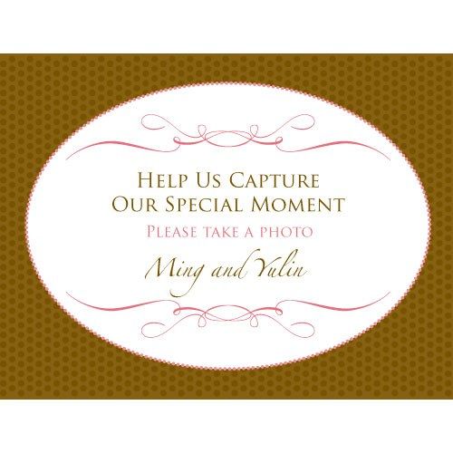 Wedding Memories Camera Reception Table Sign