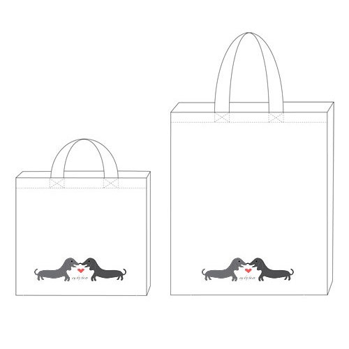 Puppy Love Personalized 100% Cotton Twill Tote Bag
