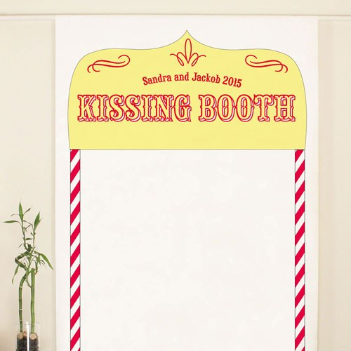 Kissing Booth Personalized Wedding Photo Booth Backdrop