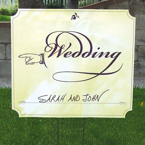 Wedding Reception and Ceremony Directional Signs