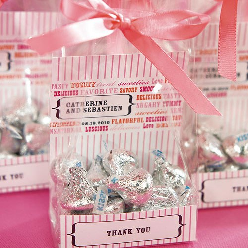Clear Flat Bottom Gusset Cellophane Wedding Favor Bags
