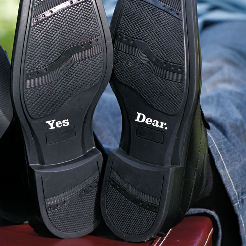 Yes Dear Shoe Talk Decals for Shoes