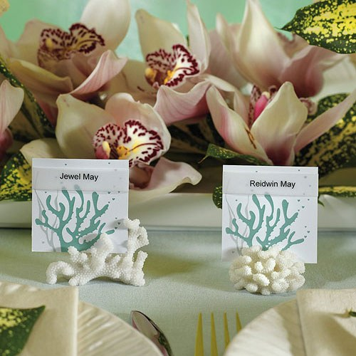 Coral Shaped Place Card Holders