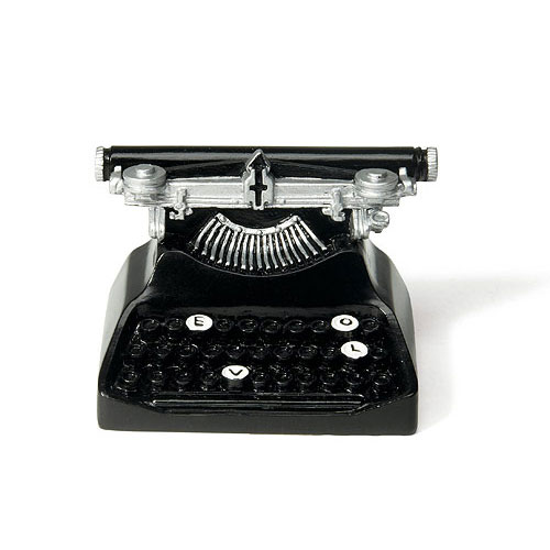 Retro Typewriter Card Holder