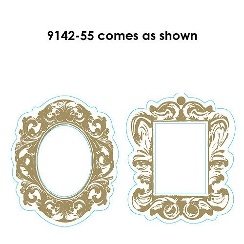 large black and white baroque wedding frames