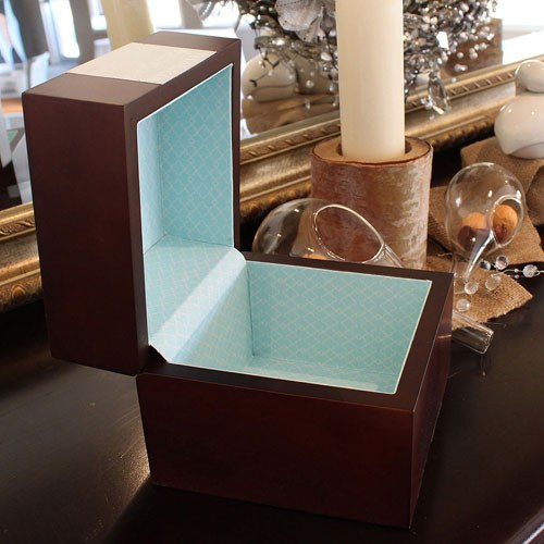 Wooden Memory Note Box Wishing Well