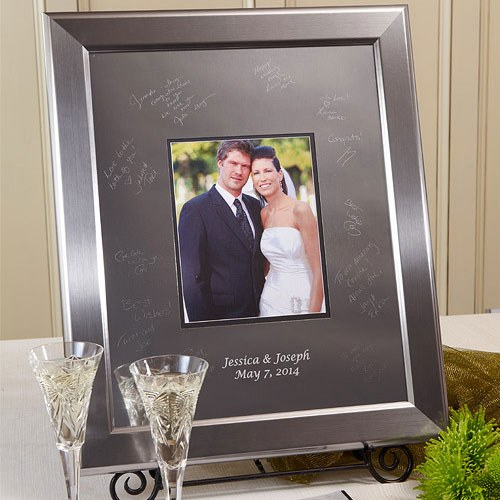Titanium Signature Wedding Keepsake Frame Kit, Small Medium Large