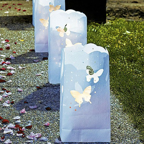 Luminary Bags with Die Cut Butterfly Pattern