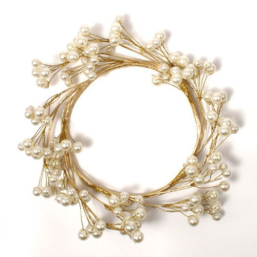 Pearl & Vintage Gold Wire Ornamental Ring