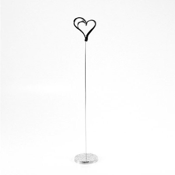 Double Heart Wedding Stationery Table Number Holder