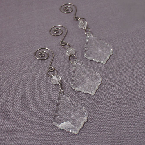 Acrylic Crystal Maple Leaf Decorative Drops